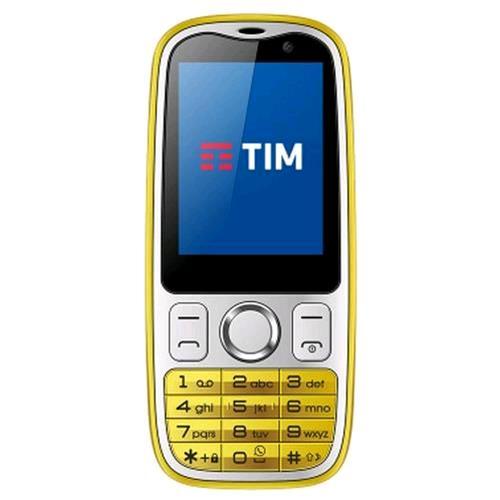 """TIM EASY 4G 2.4"""" 4G LTE WHATSAPP INTEGRATO TIM YELLOW"""