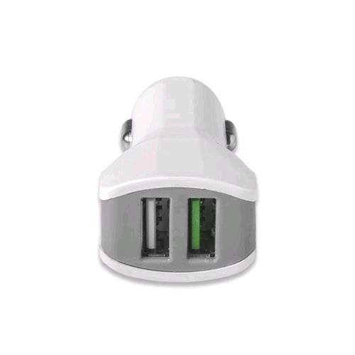 CELLY TURBO CAR CHARGHER CARICABATTERIE DA AUTO 2 PORTE USB 3.4 A COLORE BIANCO CELLY 8021735727866