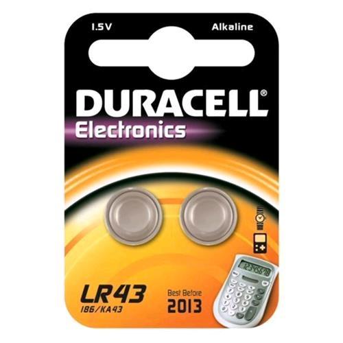 DURACELL LR43 BATTERIE A BOTTONE 1.5 V CONF. 2 Pz. DURACELL 5000394052581