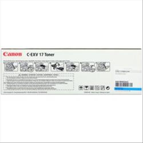CANON C-EXV17 TONER CIANO PER IRC-4580I/4080I GARANZIA ITALIA (0261B002AA) Canon 4960999352039