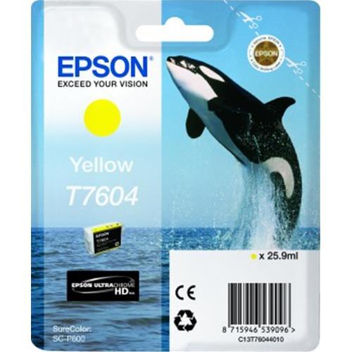 EPSON T7604 CARTUCCIA GIALLO PER STAMPANTI EPSON INK JET (C13T76044010) Epson 8715946539096