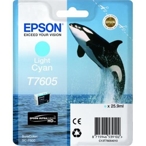 EPSON T7605 CARTUCCIA CIANO CHIARO PER STAMPANTI EPSON INK JET (C13T76054010) Epson 8715946539102