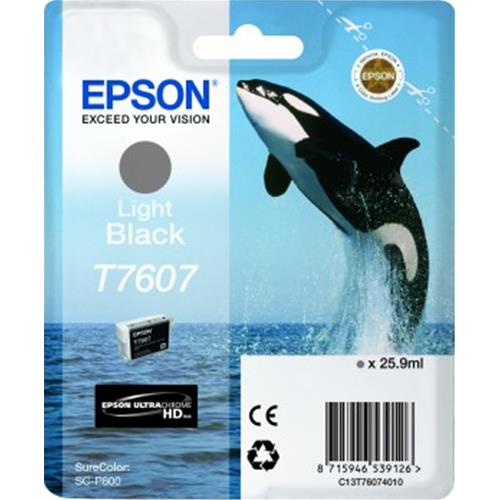 EPSON T7607 CARTUCCIA LIGHT BLACK PER STAMPANTI EPSON INK JET (C13T76074010) Epson 8715946539126