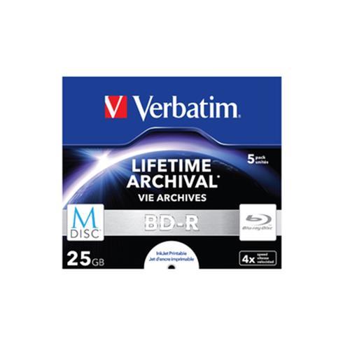 VERBATIM 43823/5 CONF 5 BLUE RAY DISC 25GB JEWEL CASE SUPERFICIE STAMPABILE VERBATIM 0023942438236
