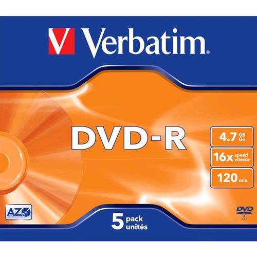 VERBATIM 43519/5 CONF 5xDVD-R 4.7GB VERBATIM 0023942435198
