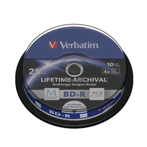 VERBATIM 43825 CAMPANA 10 M-DISC BD-R 25GB 4x VERBATIM 0023942438250
