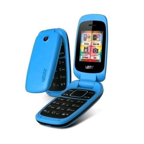 YEZZ CLASSIC C50 DUAL SIM CLAMSHELL RADIO FM BLUETOOTH ITALIA CYAN BLUE