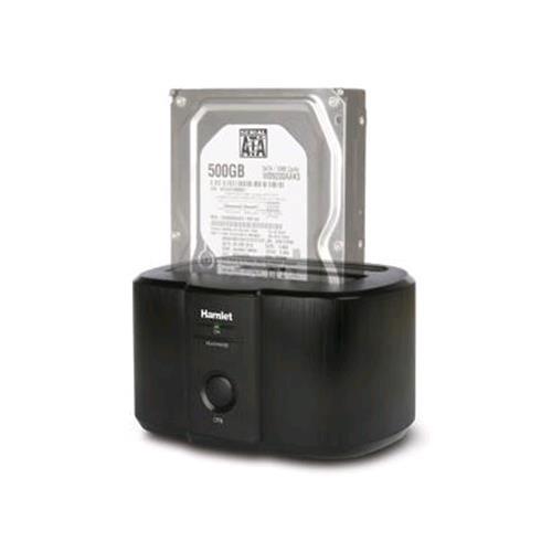"""HAMLET HXDD2535 DOCKING STATION PER HDD SATA FORMATO 2.5""""/3.5"""" INTERFACCIA USB 3.0 COLORE NERO HAMLET 8000130591500"""
