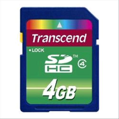 TRANSCEND TS4GSDHC4 SCHEDA SD 4GB CLASSE 4 FUNZIONE PROTEZIONE DATI Transcend 0760557818557
