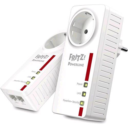 AVM FRITZ!POWERLINE 1220E KIT DI 2 POWERLINE 1200 MBPS 2 X LAN GIGABIT PRESA PASSANTE AVM 4023125027536