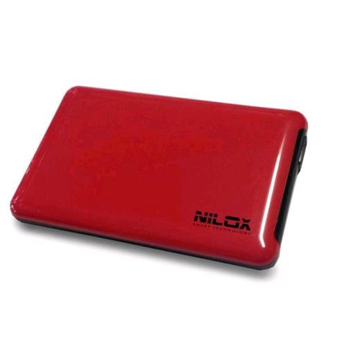 """NILOX DH0002RD BOX VUOTO USB 3.0 PER HDD INTERFACCIA SATA 2.5"""" COLORE ROSSO Nilox 8059616337095"""
