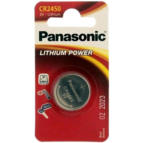 PANASONIC CR2450 BATTERIA AL LITIO A BOTTONE 3V PANASONIC 5410853014355