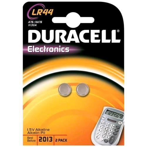 DURACELL LR44 ELECTROCNICS BATTERIE A BOTTONE 1.5 V CONF. 2 Pz. DURACELL 5000394504424