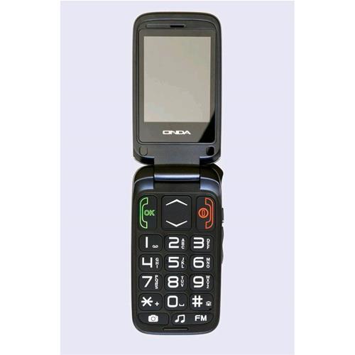 """ONDA F12 FELICE+ DUAL SIM SENIOR PHONE CLAMSHELL 2.4"""" TASTI GRANDI VIVAVOCE TAST"""