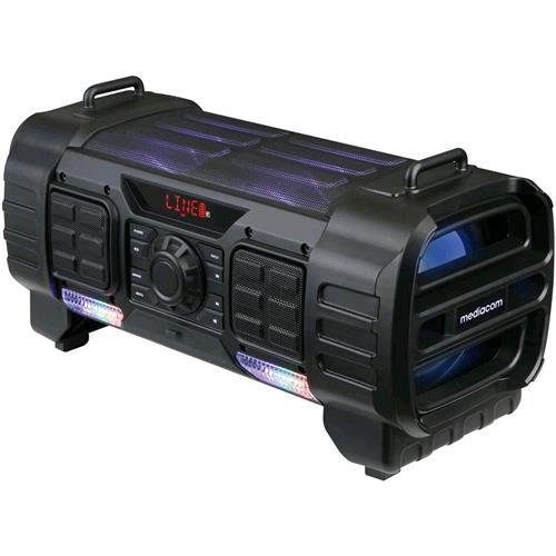 MEDIACOM MUSIC BOX PARTY CON CONNESSIONE BLUETOOTH 180W COLORE NERO MEDIACOM 219178 9178 8028153088968 M-PS180