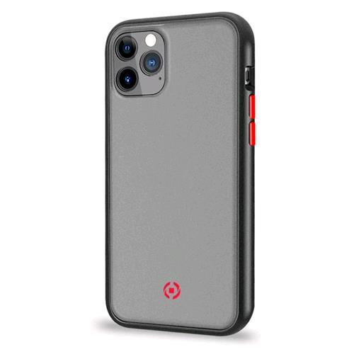 CELLY CELLY VOLCANO1002BK iPHONE 11 PRO MAX COVER IN TPU CON RETRO OPACO TRASPARENTE E TASTI IN COLORI A CONTRASTO BLACK