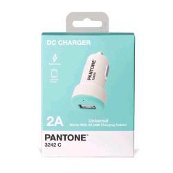 Pantone PANTONE CAR CHARGER USB CARICABATTERIE DA AUTO 12/24V OUTPUT 2.1A AZZURRO