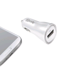 CELLY CCUSBW CARICABATTERIE DA AUTO COMPATIBILE IPHONE 5S PORTA USB 1 AMPERE COLORE WHITE