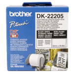 BROTHER DK-22205 NASTRO ADESIVO BIANCO STAMPA NERO 62MM X 30.48MT