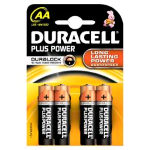 DURACELL PLUS POWER AA MN1500 LR6 BATTERIA STILO ALCALINA CONF 4 Pz.