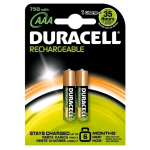 DURACELL AAA STAY CHARGED BATTERIA RICARICABILE MINI STILO CONF. 2 Pz.