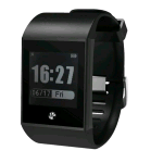 NGM FIT WATCH SMARTWATCH FITNESS WATER RESISTANT IP 67 BLACK
