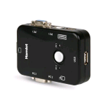 HAMLET KVM SMART CONTROL SWITCH A 3 PORTE USB + VGA CON 2 SET DI CAVI KVM INCLUSI NERO