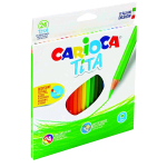 CARIOCA TITA MATITE COLORATE 3 mm COLORI ASSORTITI CONF 24 Pz.