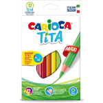 CARIOCA TITA MAXI MATITE COLORATE COLORI ASSORTITI CONF 12 Pz.