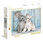CLEMENTONI CAT e BUNNY HIGH QUALITY COLLECTION PUZZLE 500 Pz