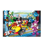 CLEMENTONI DISNEY MICKEY ROADSTER RACERS SUPERCOLOR PUZZLE 104 Pz.