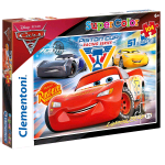 CLEMENTONI CARS 3 PISTON CUP LEGENDS SUPERCOLOR PUZZLE 104 Pz.