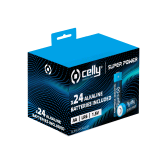 CELLY SUPER POWER BATTERIE ALKALINE AA STILO CONF. 24PZ