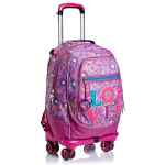 SEVEN JACK 4WD LOVE SONGS TROLLEY ZAINO IN POLISTIRENE  34 LT ROSA