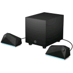 HP X1000 GAMING SPEAKERS + SUBWOOFER ATTIVO 2.1 CANALI POTENZA 30W RMS COLORE NERO