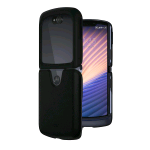 MOTOROLA RAZR 5G COVER IN PELLE NERO