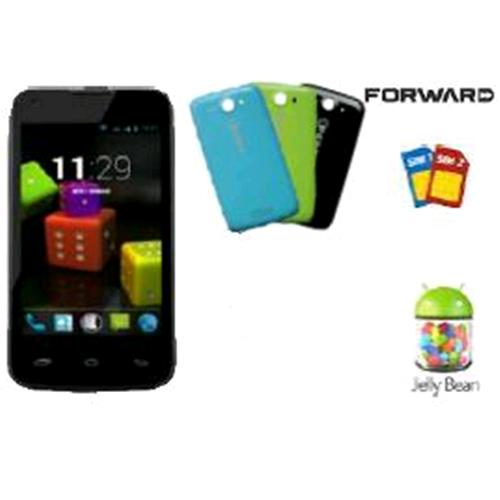 "NGM FORWARD SHAKE COLOR DUAL SIM 4"" QUAD CORE 3 COVER INCLUSE ITALIA BLACK"