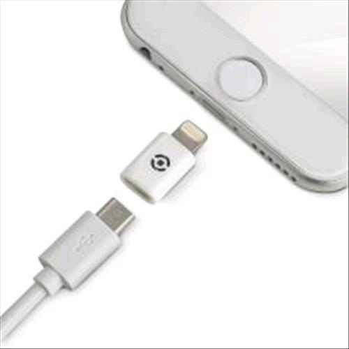 CELLY ADLIGHTWH CONNETTORE MICRO USB FEMMINA/LIGHTNING MASCHIO COLORE BIANCO CELLY 129114 8021735711490 ADLIGHTWH 9114