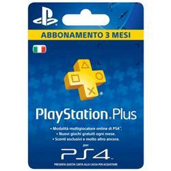 SONY SONY PLAYSTATION PLUS CARD HANG ABBONAMENTO 3 MESI 90 GG